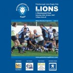 Peterborough Lions Rugby Club match programmes are printed at PPS for each home fixture